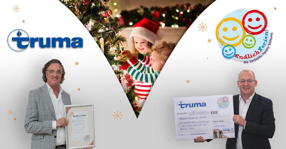 Dethleffs Family Stiftung erhält 5.000 € Spende von Truma