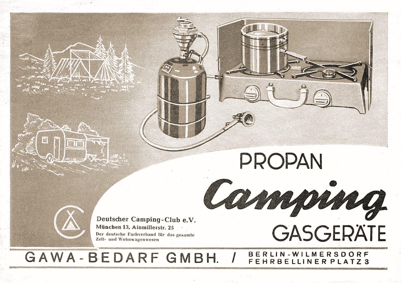 Retro Anzeige Propan Camping Gasgeräte