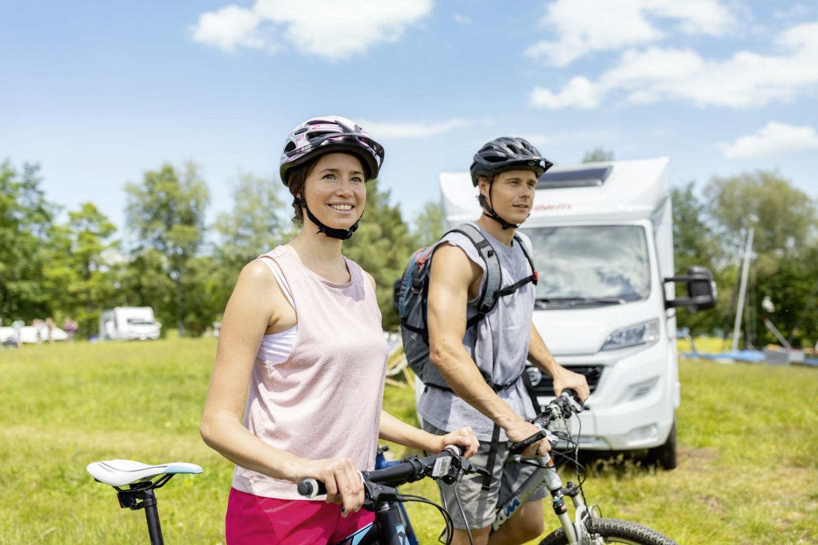 Fahrradtour beim Camping perfekt gegen den Coronablues