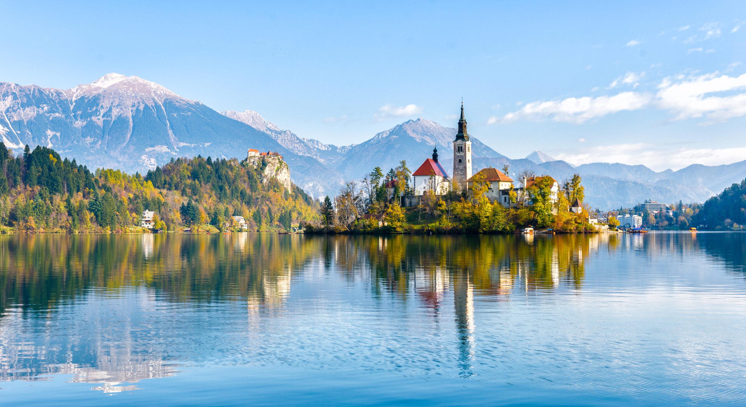 CAmpingplatz Bled in Slowenien bei der Wohnwagentour durch Kroatien und Co.