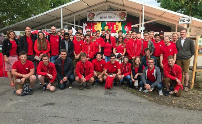 Dethleffs Ausbildungsmannschaft auf dem Kinderfest Isny 2019