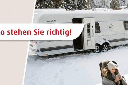 Wintertipps für Camper: Der richtige Stellplatz im Winter